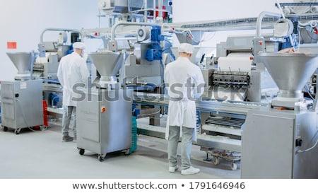 Em pé carne fábrica retrato sorridente mulher Foto stock © wavebreak_media