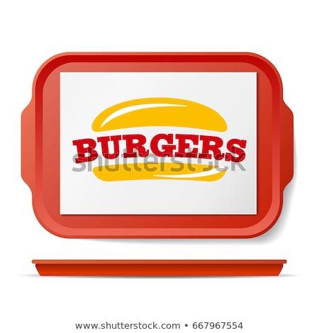 Papierlade voor fastfood Stockfoto © pikepicture
