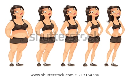 Stages of womans weight Stock photo © bluering