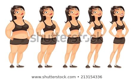 太り過ぎ · 男性 · 女性 · 少女 · 食品 · ボディ - ストックフォト © bluering