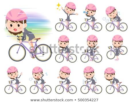 fiets · rem · ingesteld · berg · wiel · reparatie - stockfoto © toyotoyo