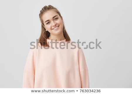 Teenager blond Haar dunkel Augen Stock foto © Traimak