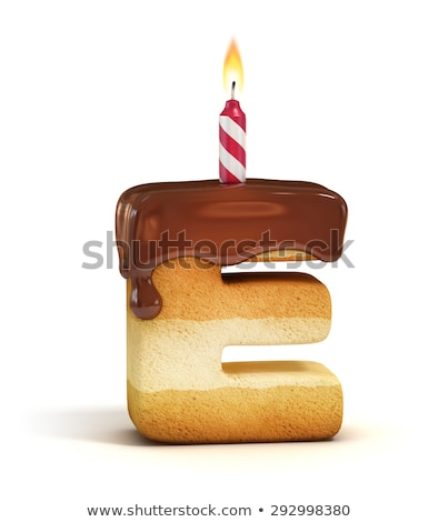 E betű születésnap betűtípus levél gyertya évforduló Stock fotó © popaukropa