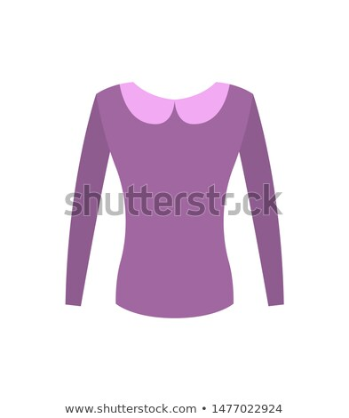Female Purple Top with Vintage Rounded Collar Stock photo © robuart