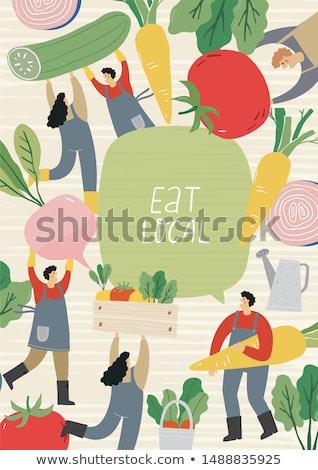 récolte · personne · agriculteur · panier · plein - photo stock © robuart
