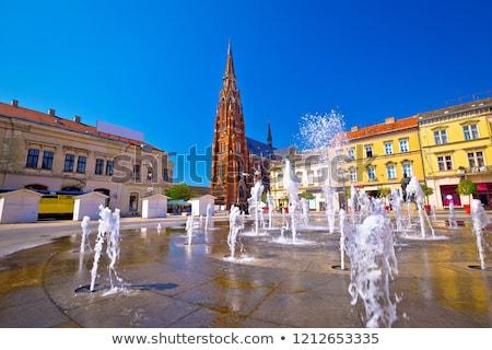 Osijek street and landmarks view stock photo © xbrchx