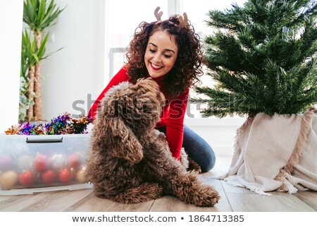 surrounded with love on christmas   holiday gift for her stock photo © anneleven