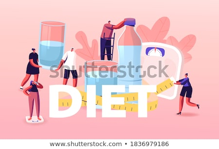sport and diet male poster vector illustration stock photo © robuart