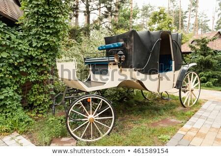 vermelho · roda · cavalo · madeira · metal - foto stock © ruslanshramko