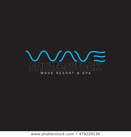 blue water wave w letter logo w icon vector Stock photo © blaskorizov