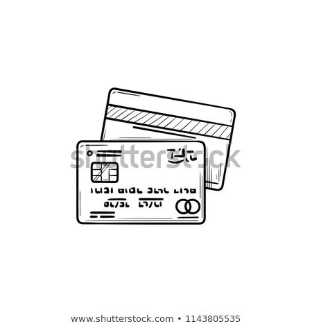 Creditcards schets doodle icon twee Stockfoto © RAStudio