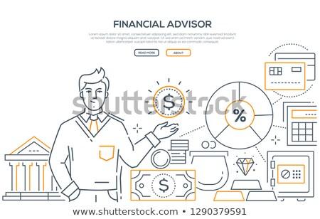 negócio · computador · mulher · dinheiro · financiar - foto stock © decorwithme