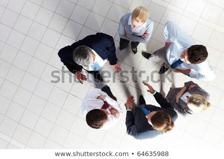 Man praten business zakenman aktetas documentatie Stockfoto © robuart