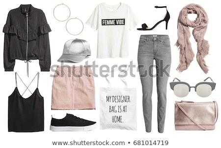 セット · 女性 · カジュアル · 服 · 単純な · デザイン - ストックフォト © netkov1