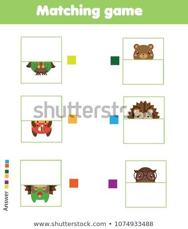 összeillő medvék oktatási játék rajz illusztráció Stock fotó © izakowski