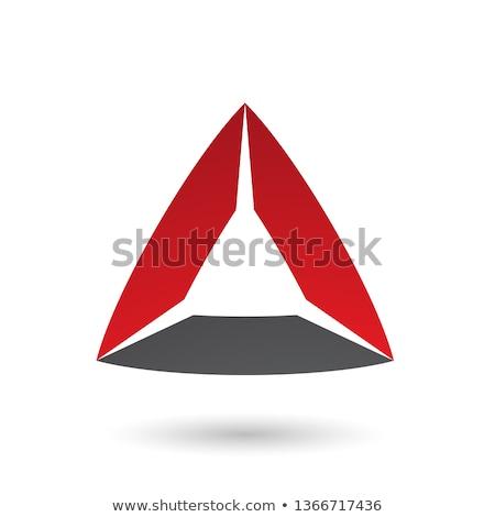 Czerwony czarny trójkąt wektora ilustracja odizolowany Zdjęcia stock © cidepix