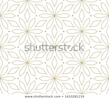 Seamless vector golden texture floral pattern. Luxury repeating damask black background Stock photo © Iaroslava