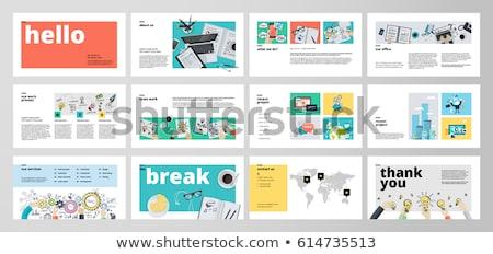Business presentation templates. Flat vector illustration Stock photo © makyzz