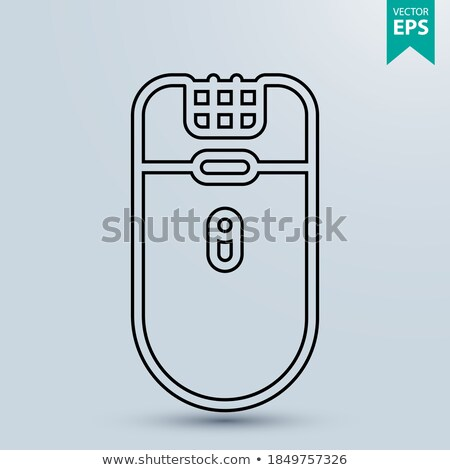 Depilator icon in linear style - electric hair depilator outline Stock photo © Winner