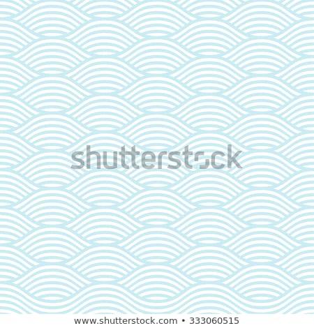 Asian style wave seamless vector pattern. Stock photo © yopixart