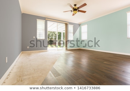 Empty Room with Cross Section Showing Before and After With New  Stock photo © feverpitch