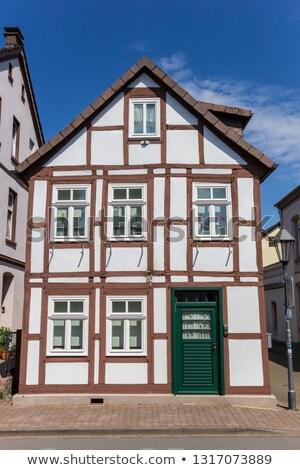 通り ドイツ 絵のように美しい 住宅 家 木材 ストックフォト © borisb17