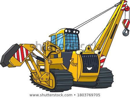 Budowy pojazdy Żuraw miksera ciężarówki widoku Zdjęcia stock © YuriSchmidt