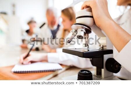 девушки изучения химии школы образование Сток-фото © dolgachov