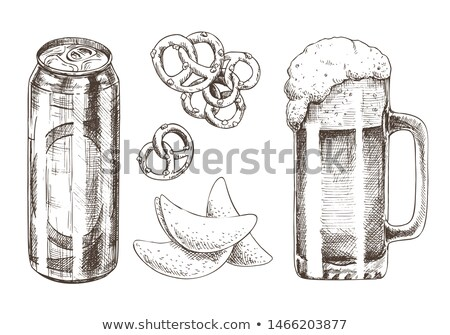 Beer Goblets Collection Isolated on White Backdrop Stock photo © robuart