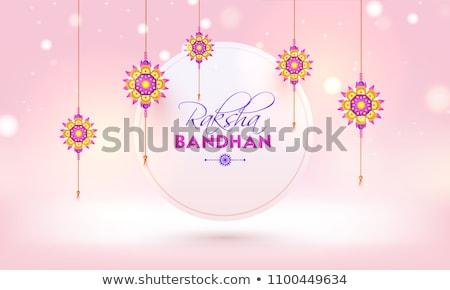 traditional raksha bandhan festival banner design Stock photo © SArts
