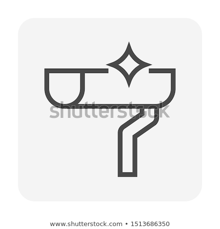 Hand Cleaning Roof Rain Gutter Icon Stock photo © patrimonio