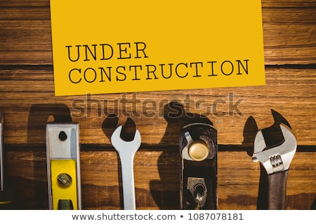 Under construction text against tools photo Stock photo © wavebreak_media