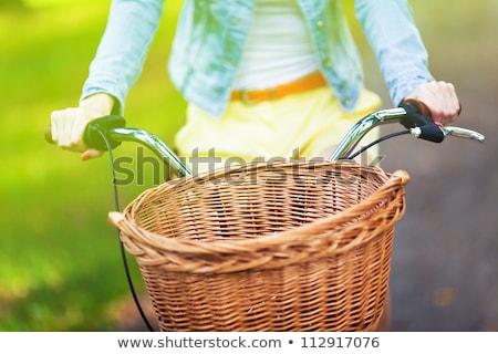Bicicleta cesta equitação ciclismo transporte ecológico Foto stock © robuart