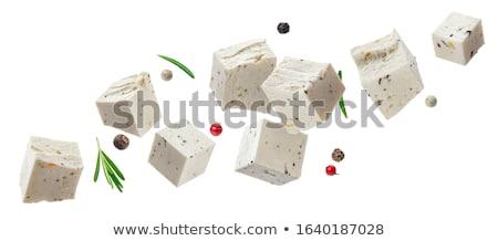 新鮮な フェタチーズ スパイス オリーブオイル 食品 チーズ ストックフォト © furmanphoto