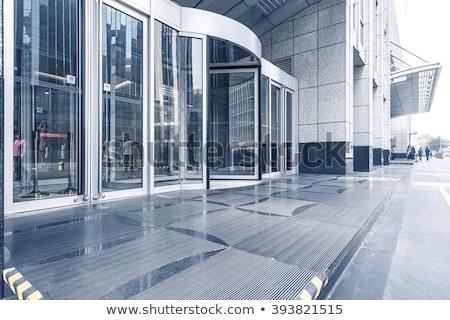 mavi · ayna · cam · gökdelen · binalar - stok fotoğraf © boggy
