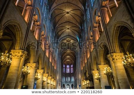 Interior catedral Paris França 26 gótico Foto stock © vapi