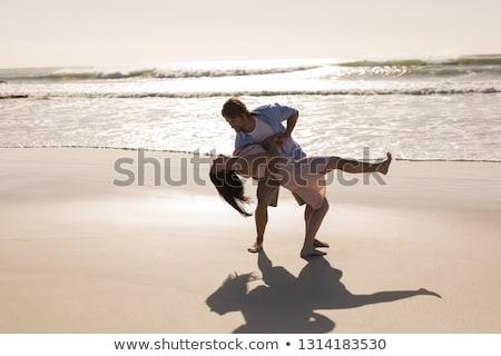 フロント 表示 ロマンチックな ダンス ビーチ ストックフォト © wavebreak_media