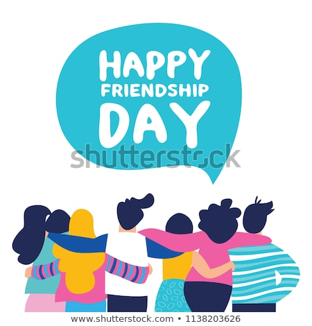 friendship day card of colorful friend group stock photo © cienpies