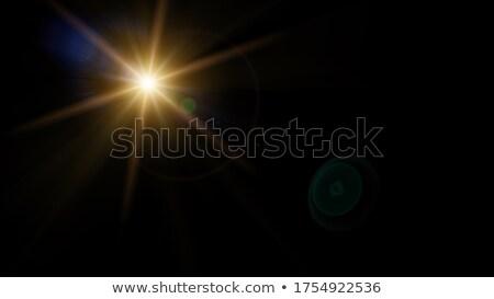 Sonne Sommer schwarz glänzend Strahl hat Stock foto © kyryloff