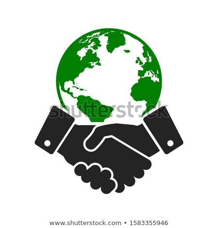 International business udany współpraca negocjacja partnerów global business Zdjęcia stock © RAStudio