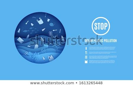 Vetor círculo quadro colorido mar oceano Foto stock © user_10144511