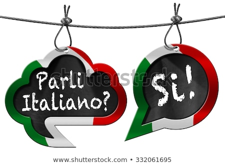 question do you speak Italian, in italian Stock photo © nito