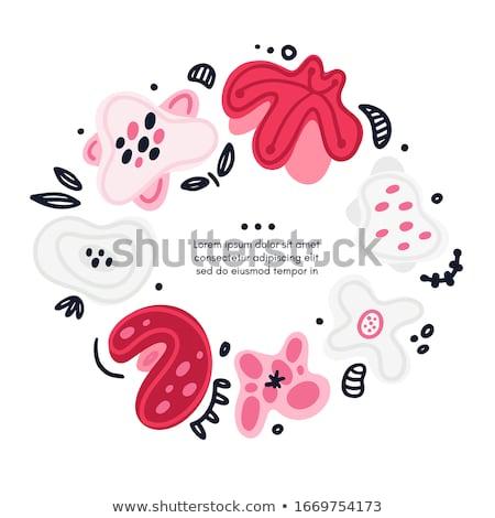 вектора круга цветочный рисованной аннотация Сток-фото © user_10144511