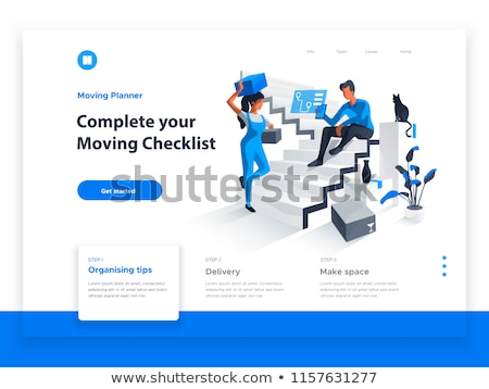 Landing page for smart home Stock photo © ildogesto