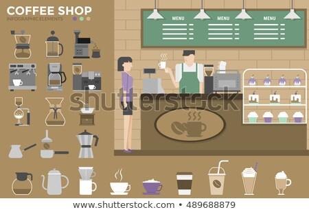 Espresso makine afiş vektör Stok fotoğraf © pikepicture