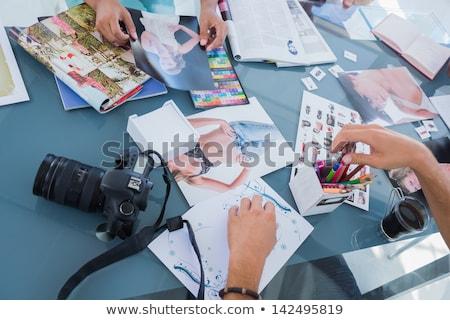 Criador equipe fotos modelo agência escritório Foto stock © dolgachov