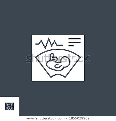 Zwangerschap vector icon geïsoleerd witte liefde Stockfoto © smoki