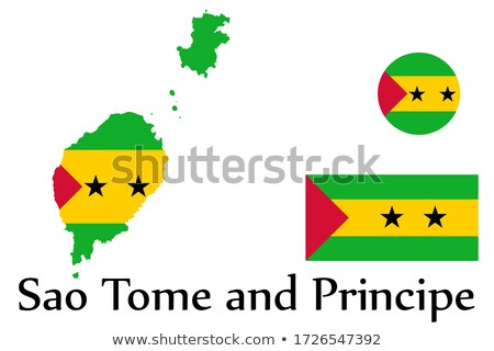 National flag of the Sao Tome and Principe in the shape of a heart and the inscription I love Sao To Stock photo © butenkow