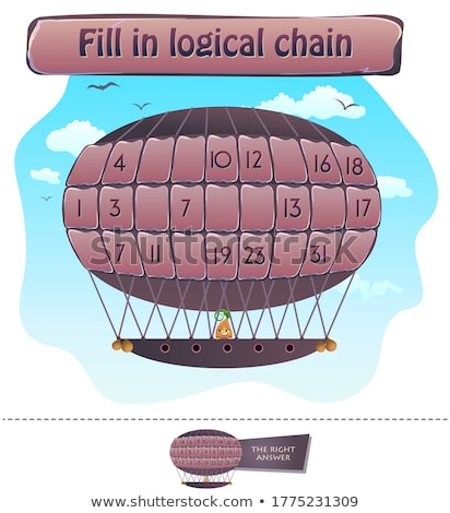 fill in logical chain puzzle Stock photo © Olena