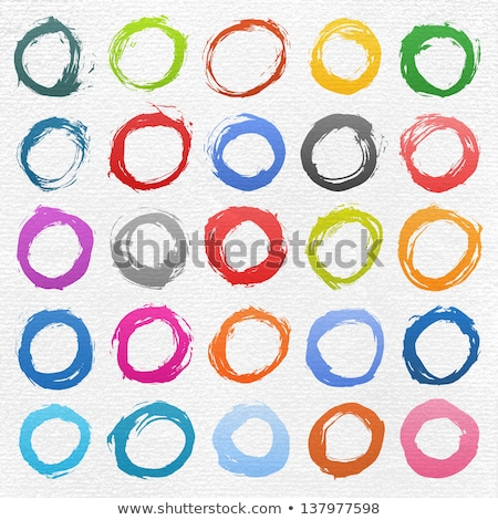 design background with circle made of coloured pencils stock photo © loopall